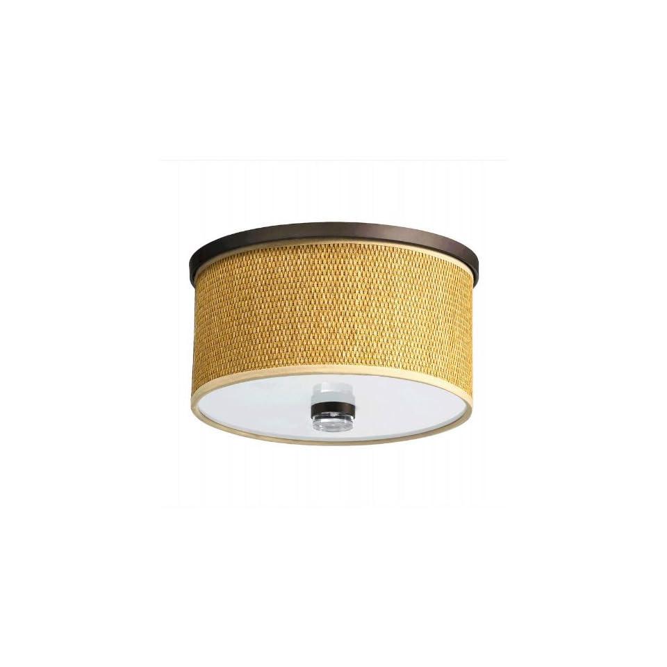 Oiled Bronze Flush Ceiling Light   Item QO 659 11 86