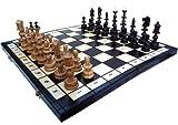 ChessEbook OLD POLISH - Ajedrez de Madera, Tablero de 58 x 58 cm