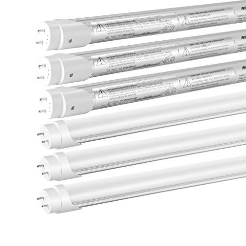 T8 LED 4FT Tube Light 22W 2310Lm 5000K Full Spectrum Daylight High Power Super Bright LED T8 Tube, 50W T8 T10 T12 Fluorescent Equivalent, Opal Cover Reduce Glare Eye Strain, UL DLC CE ROHS ERP, 6-PACK (Full Spectrum Fluorescent Tubes compare prices)
