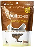 Fruitables Skinny Minis Rotisserie Chicken Chewy Dog Treats 1-5 oz Pouch