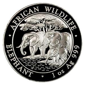 2013 African Wildlife Elephant Silver One Ounce Coin