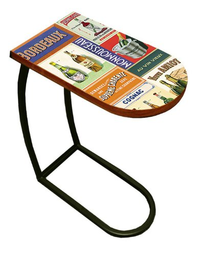 New Wine Label Themed Table Top TV Tray - Slides Under the Couch! (Wine Themed Tray compare prices)