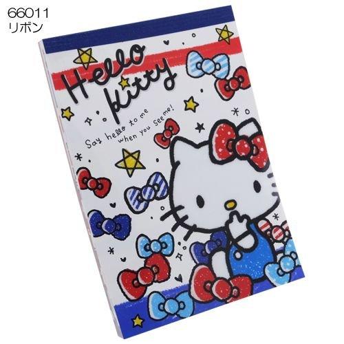 Hello Kitty Notepad A6 note pad Ribbon candy [Ribbon]