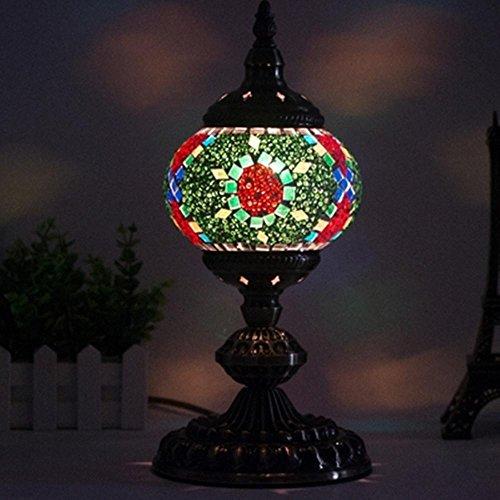E14 LED Mediterraneo orientale stile alta den soggiorno camera da letto arredamento fatti a mano mosaico vetro lampada da tavolo , sgn
