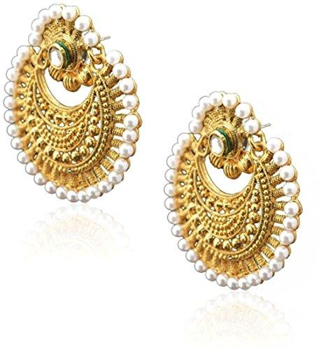 80 off on shining diva kundan pearl gold plated