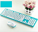 Srocker G9300 2.4G Wireless Keyboard with Mouse, Blue