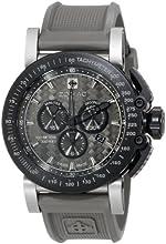 "Zodiac ZMX Men's ZO8522 ""Racer"" Stainless Steel Watch with Grey Rubber Band"