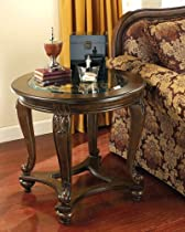 Hot Sale Traditional Dark Brown Norcastle End Table