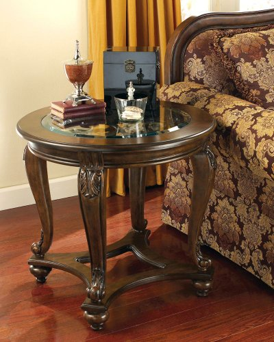 Cheap Traditional Dark Brown Norcastle End Table (T499-6)
