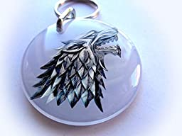 Dog and Cat Customized Pet Id White Game of Thrones Direwolf (Large 1.50\