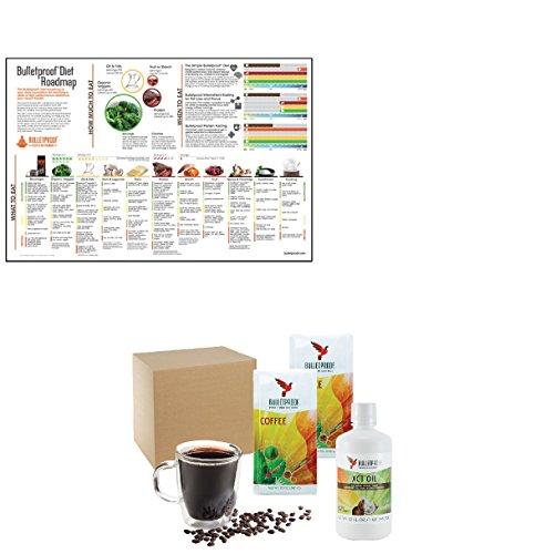 Bulletproof Upgraded Coffee Regular Decaf Starter Kit and Poster Set (Bulletproof Coffee Set compare prices)