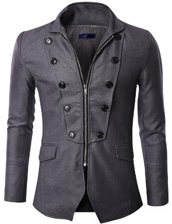 Mens Zipper Jacket Blazer (GAK07)