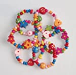 8 x Colourful Wooden Girls Bracelets...