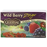 Celestial Seasonings Herb Tea, Wild Berry Zinger, 20-Count Tea Bags (Pack of 6)