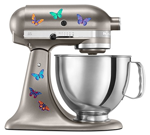 Kitchen aid mixer beautiful butterfly artistic full color post impressionist painted style decal - Decorated kitchenaid mixer ...