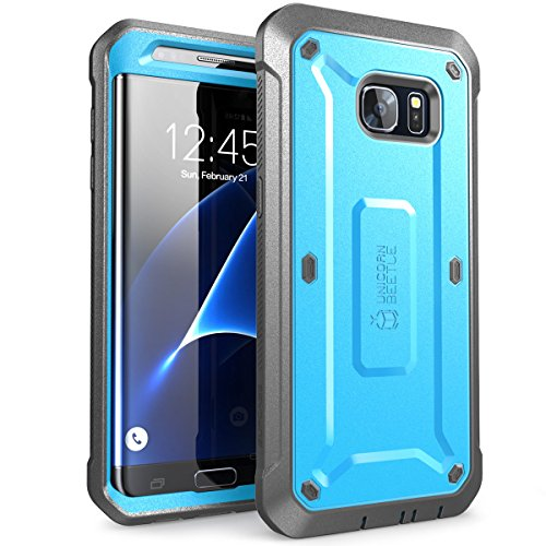 Galaxy S7 Edge Case, SUPCASE Full-body Rugged Holster Case WITHOUT Screen Protector for Samsung Galaxy S7 Edge (2016 Release), Unicorn Beetle PRO Series - Retail Package (Blue/Black) (Unicorn Beetle Pro Series compare prices)