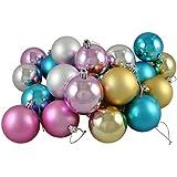 "24ct Matte/Shiny Pastel Multi Shatterproof Christmas Ball Ornaments 2.5"" (60mm)"