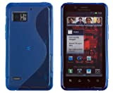 Blue S-Curve Flexible TPU Gel Case for Motorola Droid Bionic Targa XT875 (Verizon Wireless)