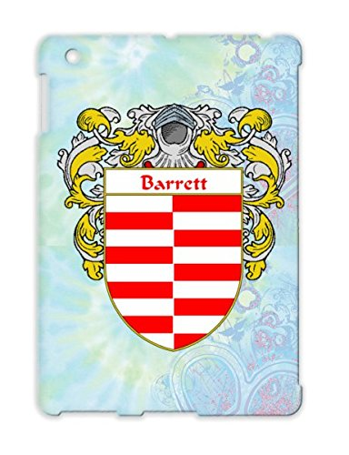 Barrett Coat Of Arms Mantled Irish Gaelic Name Shield Surname Family Last Scotland Cities Countries Ancestry Crest Flags Wales Celtic Heritage Barrett England Ireland White Scratch-Free Cover Case For Ipad 2 front-320217