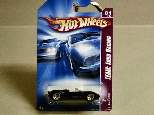 2008 Hot Wheels Team Ford Racing Black Ford GTX1 w/ gold 5SPs (1 of 4) #141/196 1:64 Scale - 1