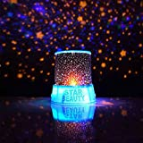 Gladle® Romantic Blue Amazing Master Star Sky Cosmos Universal Night Light Lamp Baby Kid Chidren Sleep Dreamlike Projector Christmas Gift Present