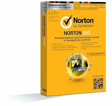 Norton 360 V7 - premier édition - mise à jour (3 postes, 1 an)