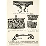 1889 Wood Engraving Sword Ornament Scabbard Gold Mouth Filigree Handle Neck-ring - Original In-Text Wood Engraving