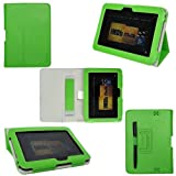ProCase old generation Kindle Fire HD 7 Case - Bi-Fold Stand Folio Cover for Amazon Kindle Fire HD 7 Inch Tablet (2012 version) auto sleep /wake feature (Green) ~ ProCase