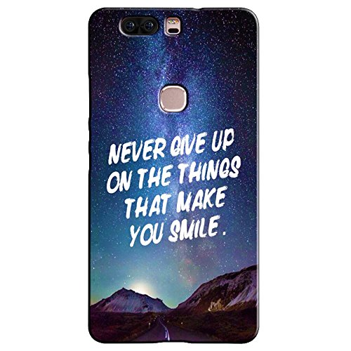 EU4IA Never Give Up Quotes Pattern MATTE FINISH 3D Back Cover Case For HONOR V8 - D286  available at amazon for Rs.399
