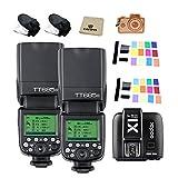 Godox Thinklite TTL HSS TT685N Camera Flash with X1T-N Transmitter High Speed 1/8000 GN60 for Nikon DSLR Cameras (2TT685N+X1T-N)