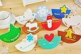 丸くて可愛い♪ 立体 クリスマスカード 丸型 10枚セット 封筒+シール付き 【kj308】 (丸サンタ)