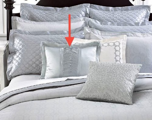 Martha Stewart Collection Vendome 16 X 20 Decorative Pillow Grey Applique front-1011743