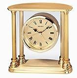 Seiko Desk and Table Alarm Clock Gold-Tone Solid Brass Case