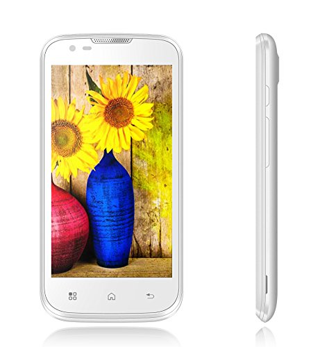 Que 4.5 Unlocked Android Smartphone With Dual Core 1.2Ghz Processor, Cortex A7, 4.5 Inch Screen, Front And Back Camera, Gps, And Wifi Hotspot Support, Compatible With Gsm Carriers, Including At&T And T-Mobile, White