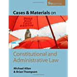 Cases and Materials on Constitutional and Administrative Lawby Brian Thompson