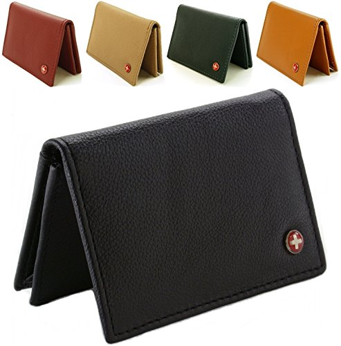 Alpine swiss genuine leather thin business card case import it all alpine swiss genuine leather thin business card case minimalist wallet colourmoves