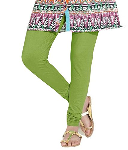 Nitya Fashion Women Cotton Legging (Color: Green, Size: Free Size)