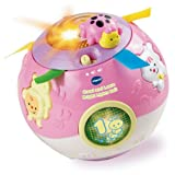 Slick VTech Crawl and Learn Bright Lights Ball - Pink with accompanying Set of 10 KiddiSafe Door Stoppers