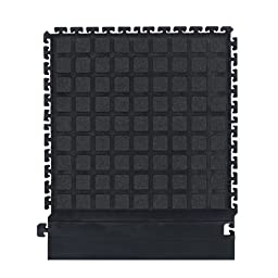 The Andersen Company 524 Nitrile Rubber Hog Heaven Modular Tile II with Grit and Black Strip Side Border, 21.87\