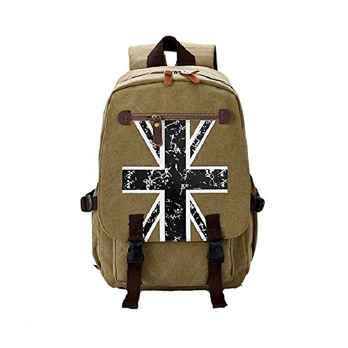 Evay's 15.6 Inch Canvas Water-Resistant LaptopNotebook Backpack for Teenager