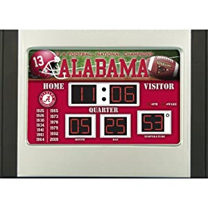 Buy Team Sports America Alabama Crimson Tide 6.5x9 Scoreboard Desk Clock by Team Sports America