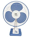 """Polar  400mm  Mistral Electric Osc. Table Fan   FT40C1 """"White   Blue"""" available at Amazon for Rs.34000"""