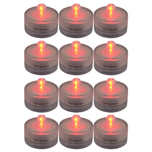 Generic Lots 12X Waterproof Flameless Wedding Party Xmas Tea Multicolor Light Led Candle Red