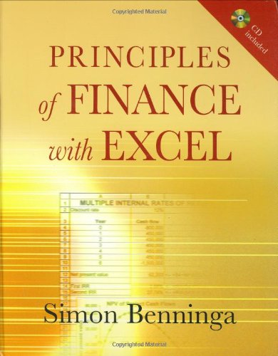 Principles of Finance with Excel: Includes CD image