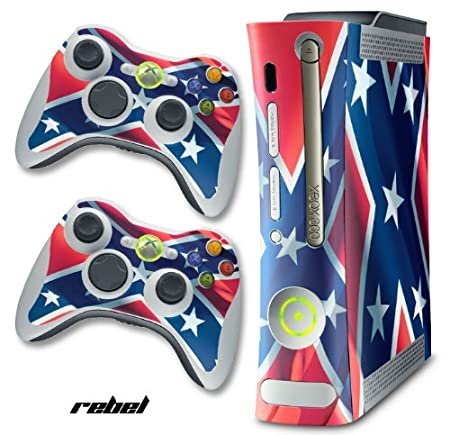 XBOX 360 Console Rebel Flag Design Decal Skin - System & Remote Controllers - Rebel Flag