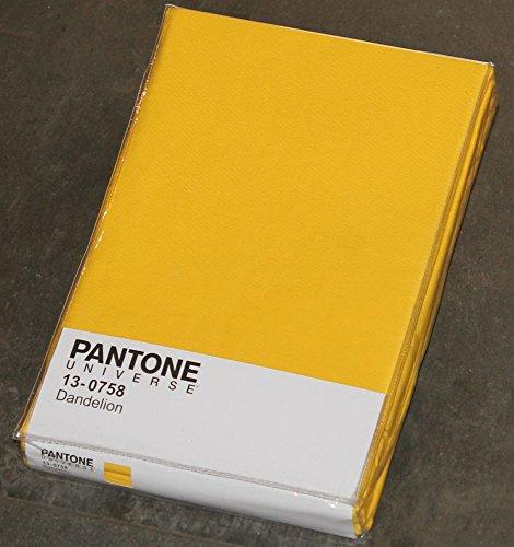 TOVAGLIA PANTONE UNIVERSE by BASSETTI RETTANGOLARE 6 8 12 POSTI 100% COTONE 140 x (GIALLO - Dandelion 13-0758, 180 Centimetri)