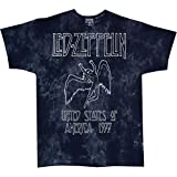 Led Zeppelin USA Tour 77 Tie Dye T-Shirt (Medium)