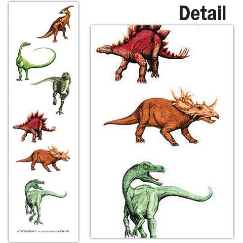 Tattoo King Dinosaur Temporary Tattoos - 1