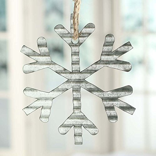 factory-direct-craft-group-of-6-galvanized-corrugated-metal-snowflake-ornaments-for-holiday-crafting