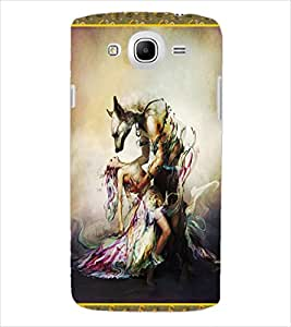 ColourCraft Beauty with Beast Back Case Cover for SAMSUNG GALAXY MEGA 5.8 I9150 / I9152